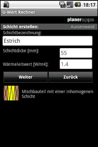 U-Wert Rechner Lite- screenshot