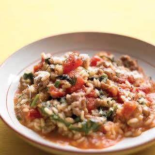 Tomato and Sausage Risotto.