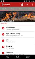 Screenshot of Wildfire - American Red Cross