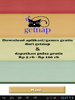 Screenshot of getnap :PULSA GRATIS 5rb-100rb