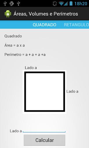 Área Volumes e Perímetros