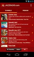 Screenshot of JAZZ RADIO