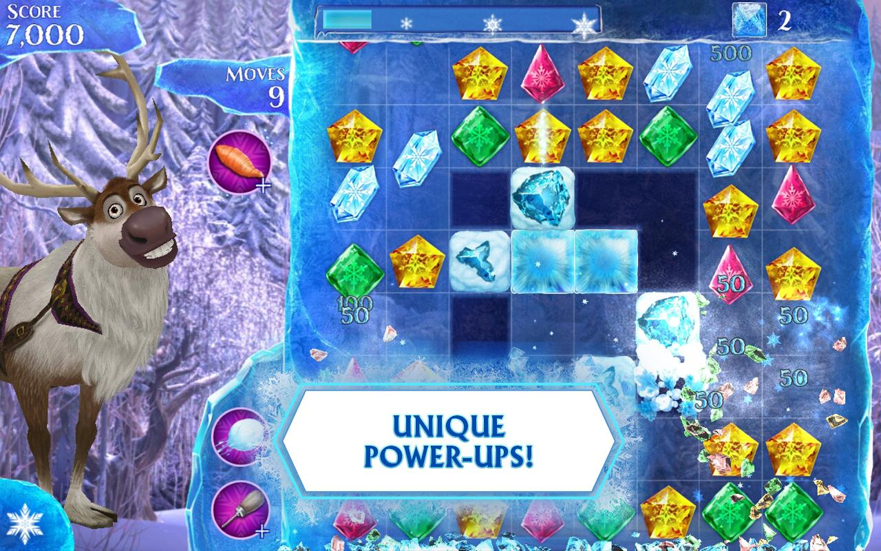 frozen free fall screenshot - Free Disney Games For 4 Year Olds
