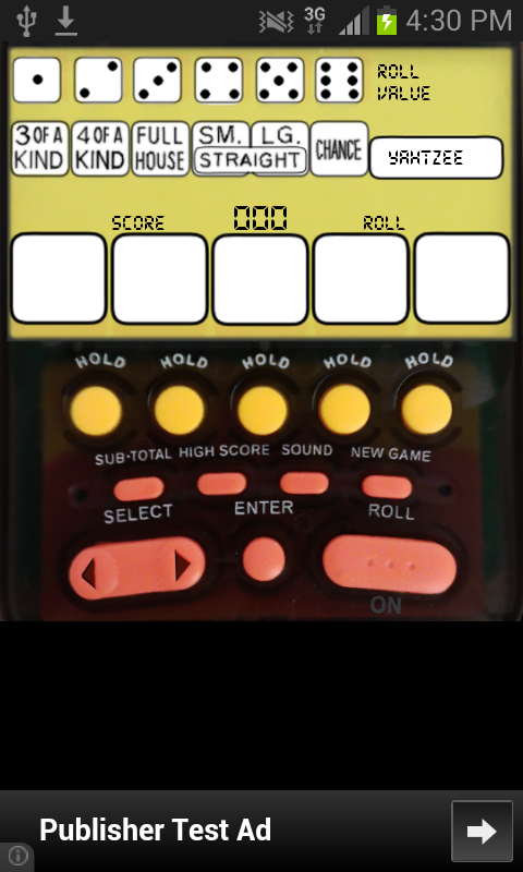 Electronic Yahtzee - screenshot