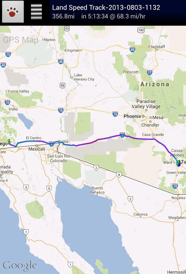 GPS Map - screenshot