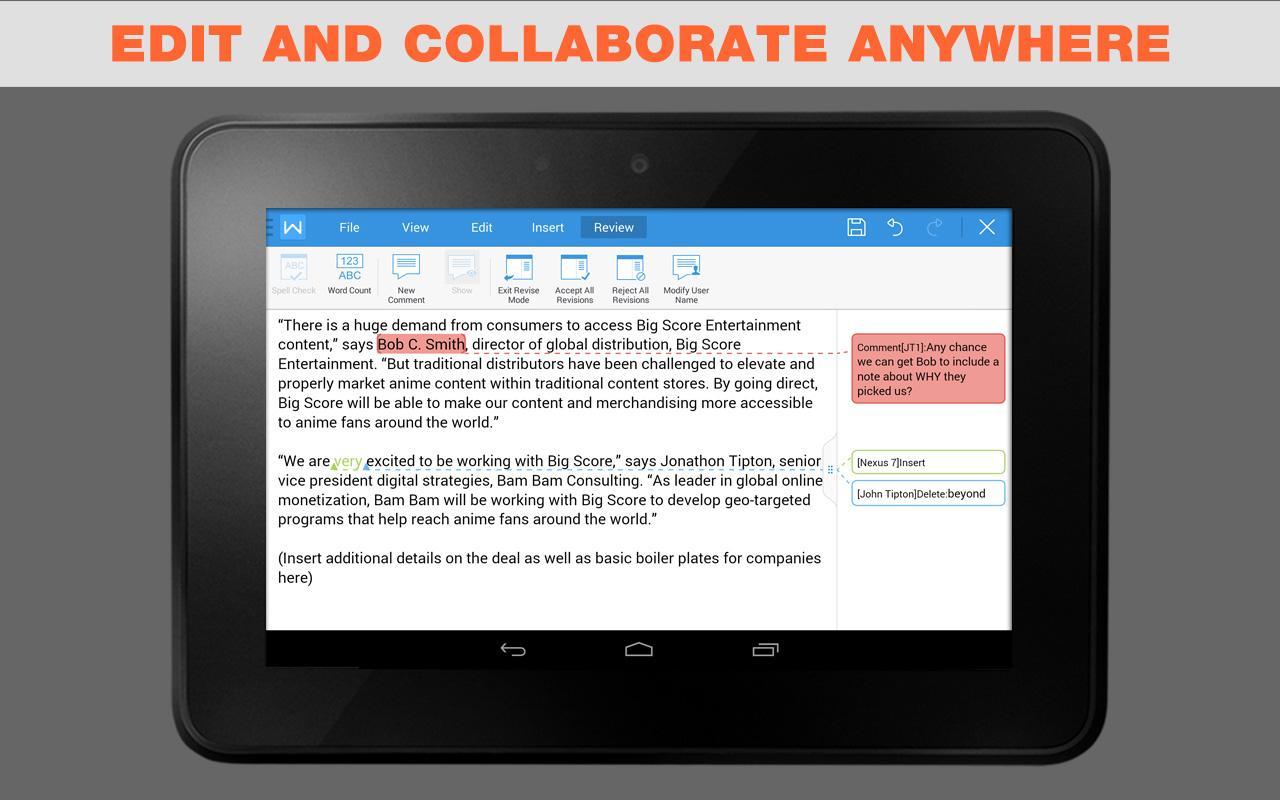 WPS   1 FREE Mobile Office App - screenshot
