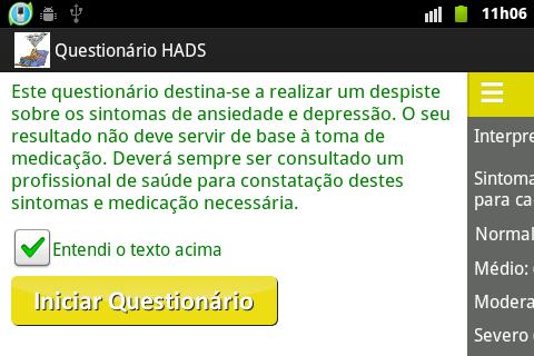 Ansiedade e ou depressão HADS