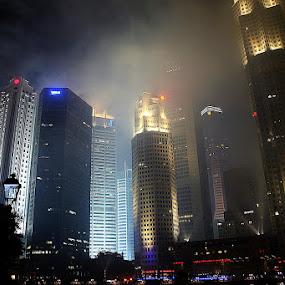 Singapore Financial Centre by Leong Jeam Wong - Buildings & Architecture Office Buildings & Hotels ( skyscraper, finance, singapore, river, banks )