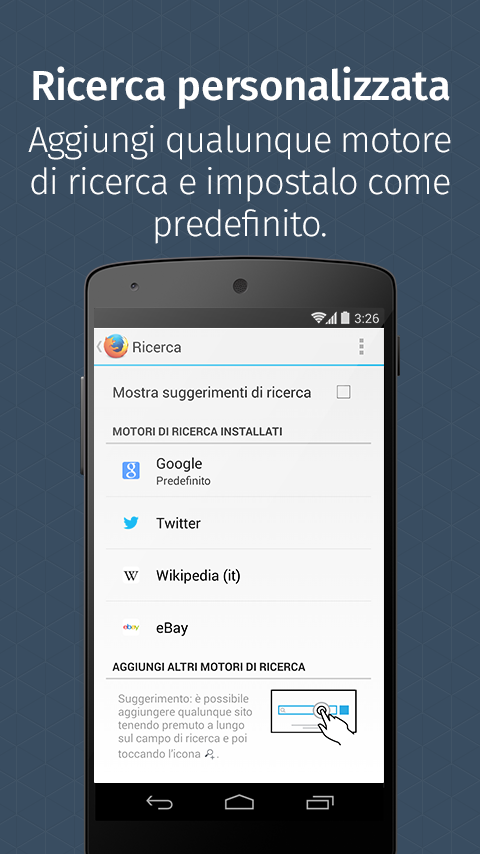 Firefox per Android - screenshot