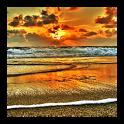 3D sunrise at sea HD wallpaper icon