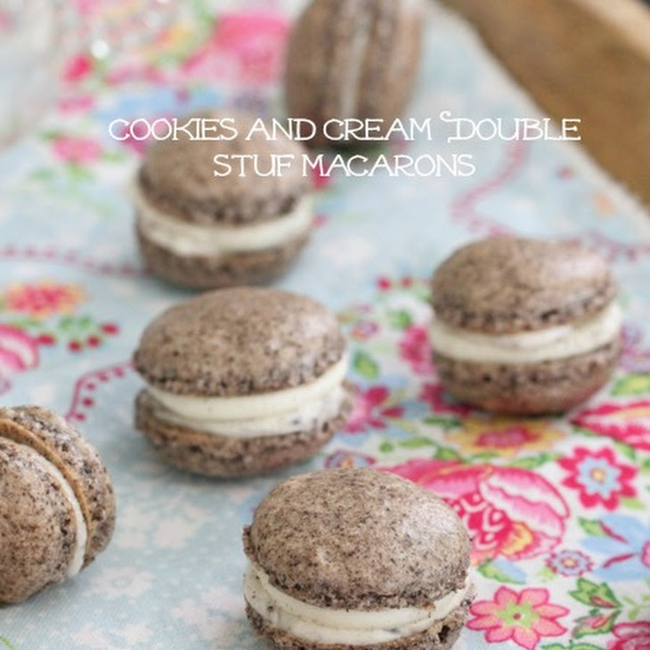 Cookies and Cream Double Stuf Macarons Recipe