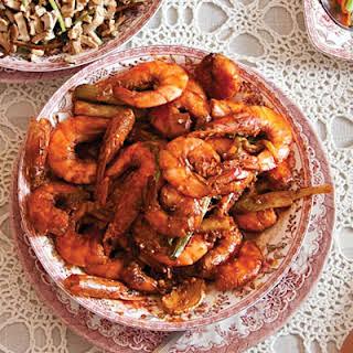 Gan Shao Xia (Sweet and Sour Shrimp).