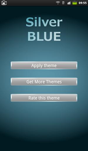 Silver Blue Keyboard Theme