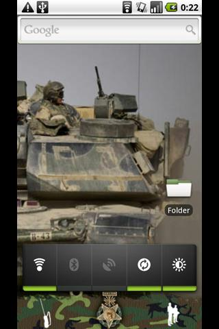 GDE camouflage/military theme - screenshot