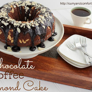 Chocolate Coffee Cake with Almonds.