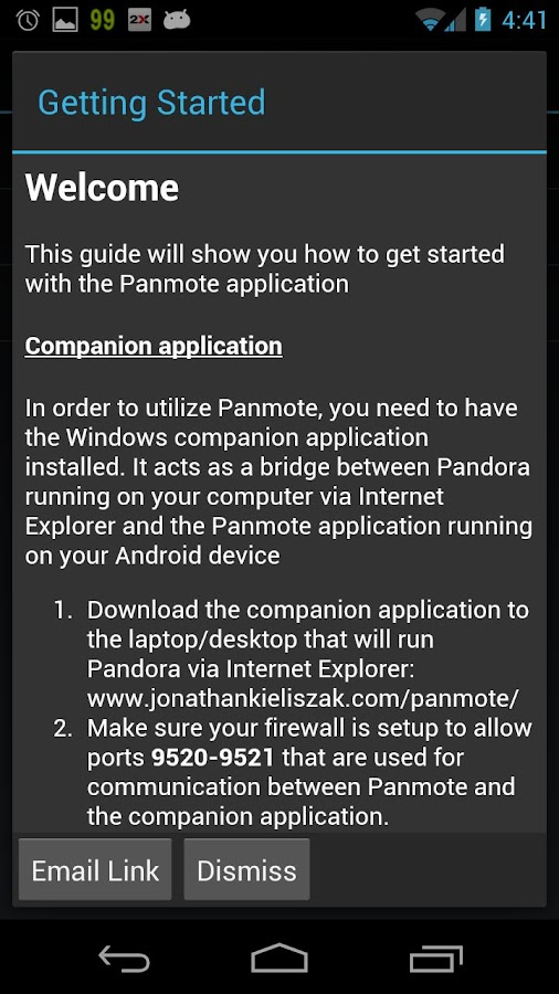 Panmote - screenshot
