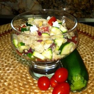 Mediterranean Quinoa Salad with Rosemary Chicken.