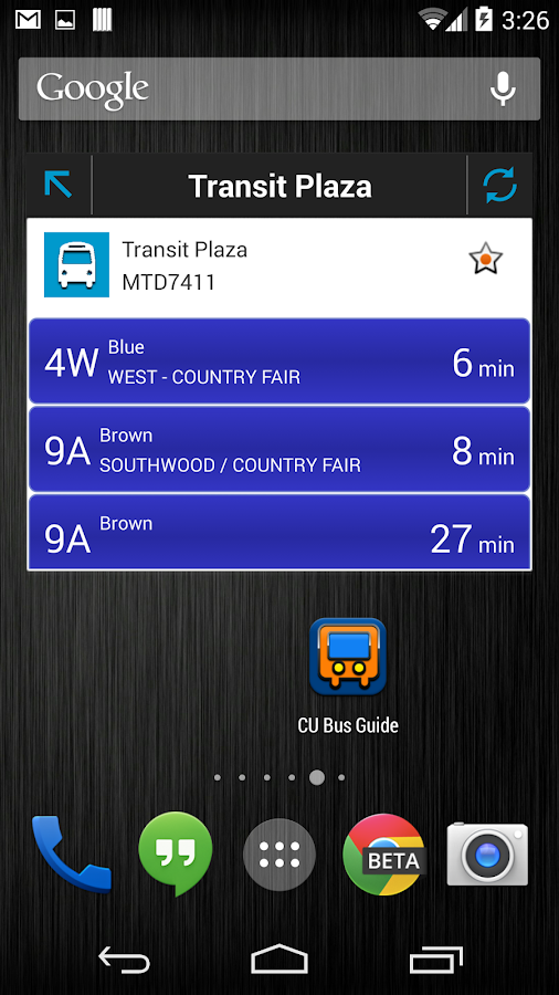 CU Bus Guide- screenshot