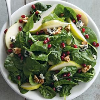 Spinach, Pear and Pomegranate Salad
