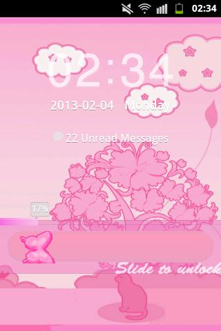GO Locker Theme Pink Cat- screenshot