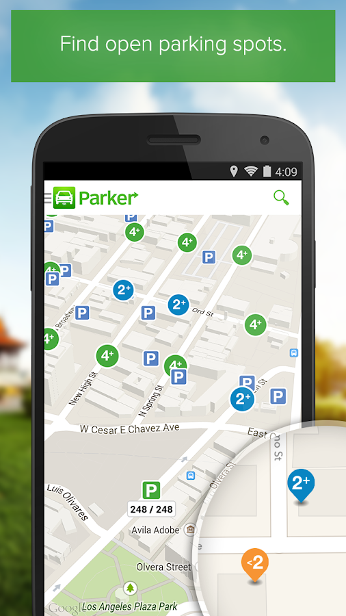 Parker, Find available parking- screenshot