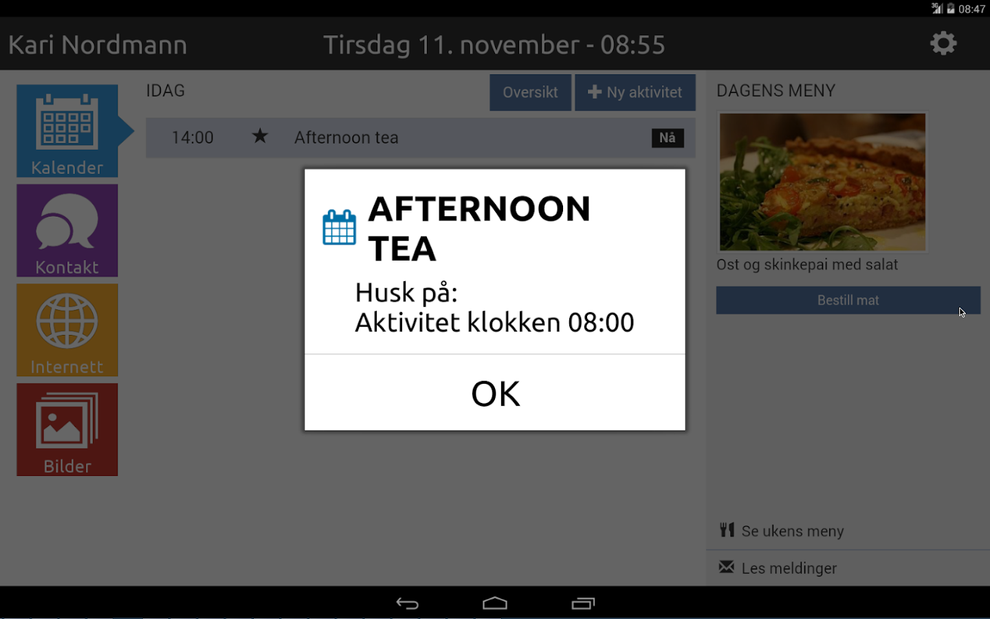 sensio velferd app med kalender android apps on google play. Black Bedroom Furniture Sets. Home Design Ideas