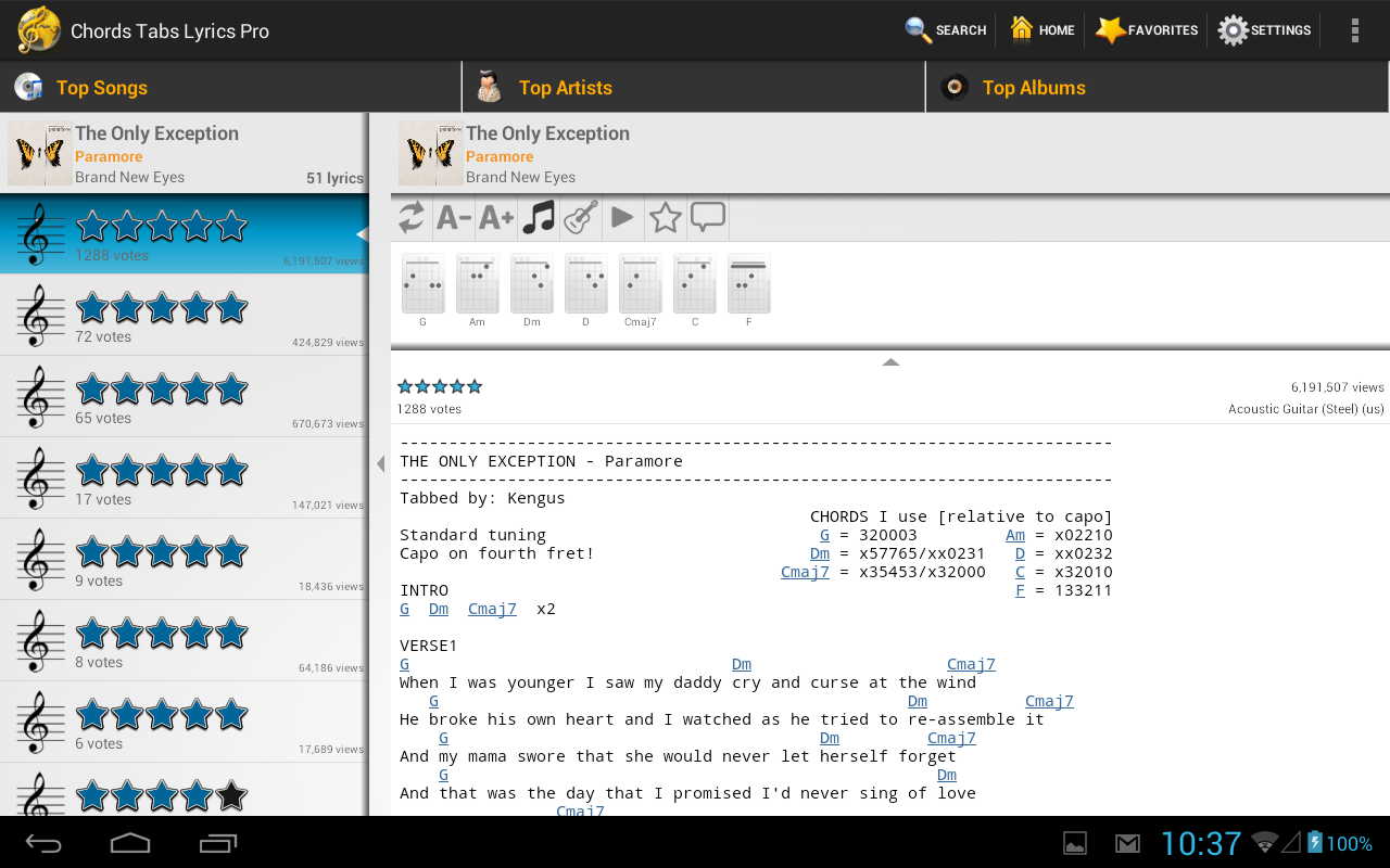 Chords tabs lyrics pro android apps on google play