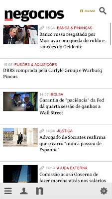 Negócios - screenshot