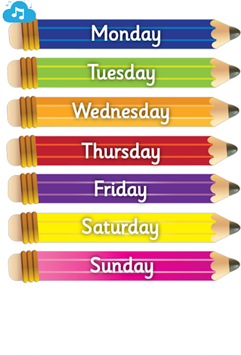 Days Of The Week Learning