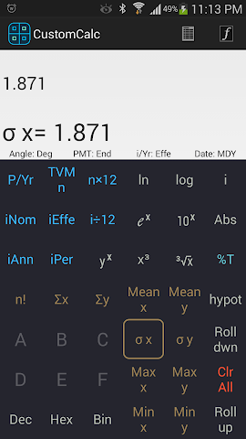 Screenshots for CustomCalc Pro Scientific Calc