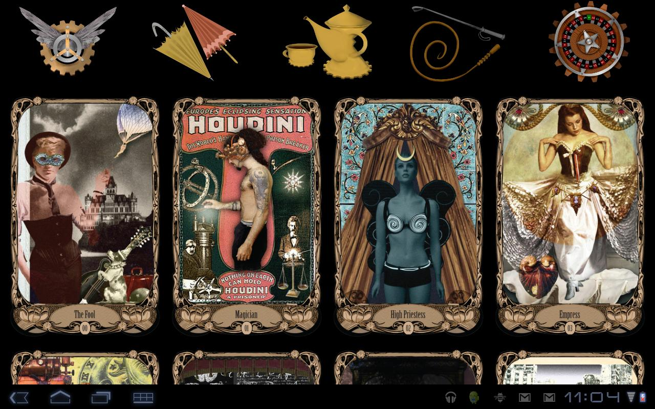 Steampunk TarotBot - screenshot