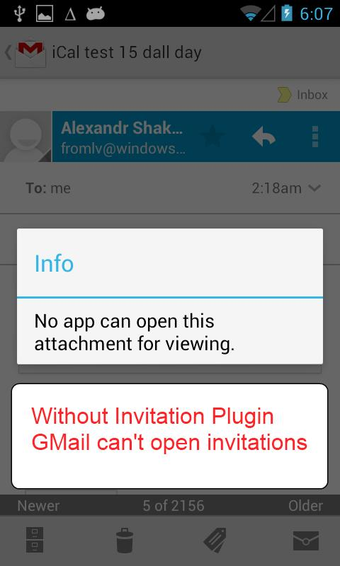 Invitation Plugin - screenshot
