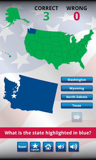 US States and Capitals Quiz