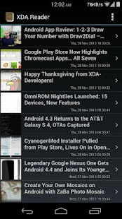 XDA Reader - screenshot thumbnail