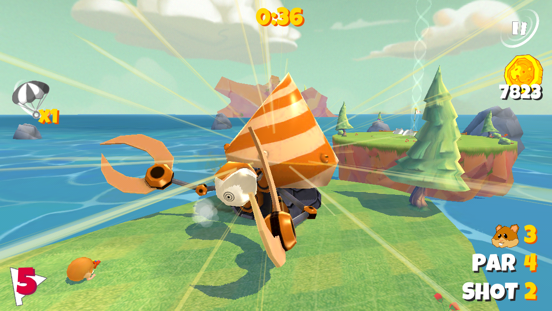 Boom Boom Hamster Golf- screenshot