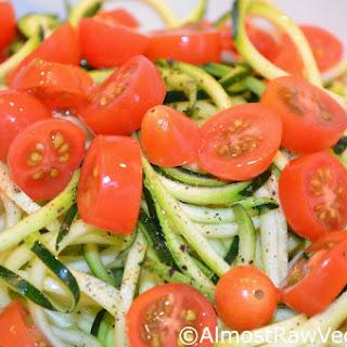 Zucchini Noodle & Cherry Tomato Salad