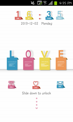 Love message go locker theme