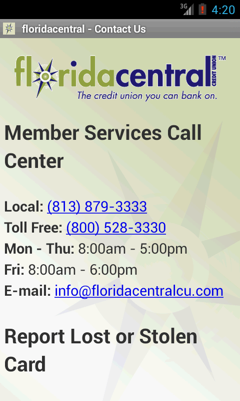 floridacentral Credit Union - screenshot