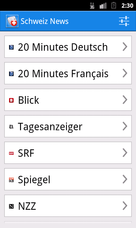 Schweiz News - screenshot