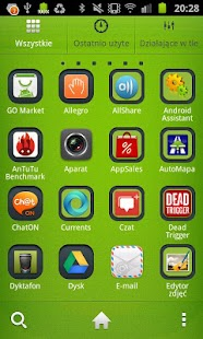 Simple Green GO Launcher theme - screenshot thumbnail