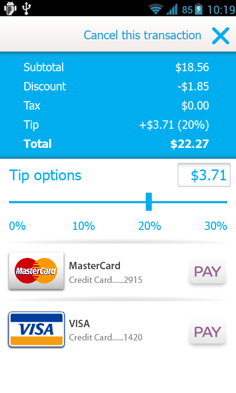 bPay (Delaware) - screenshot