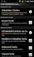 Screenshot of Locus - addon GSAK Database