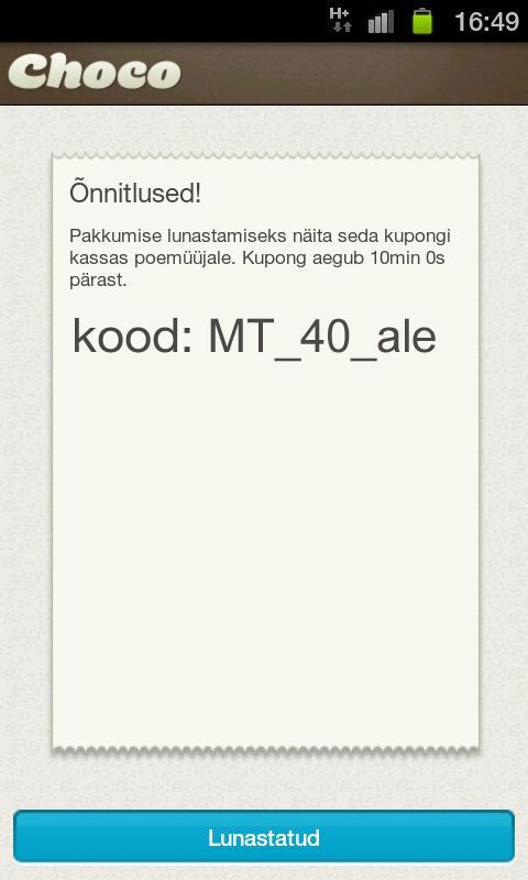 Choco - screenshot