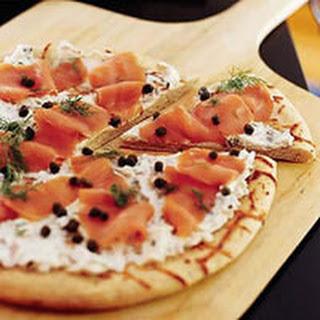 Smoked Salmon Pizza.
