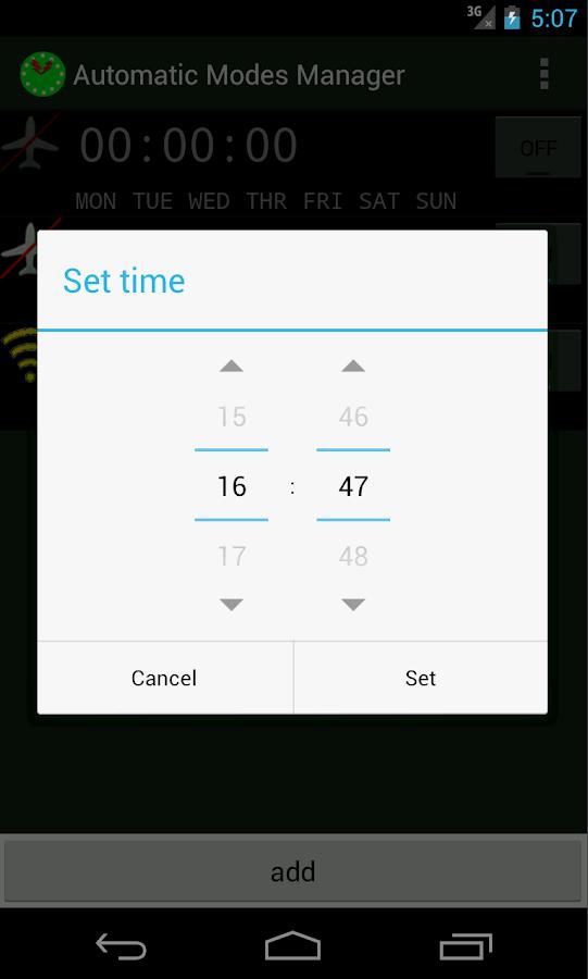 Automatic Modes Toggler - screenshot