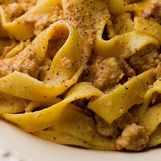 Tagliatelle with Turkey Bolognese Sauce and a Double Cookbook Contest!