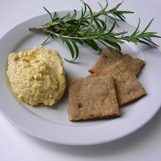 Buckwheat Rosemary Crackers
