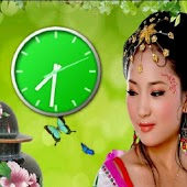Beauty Girl Clock Free LWP