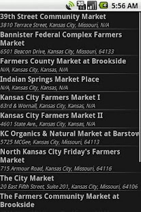 Farmers Market Finder - screenshot thumbnail