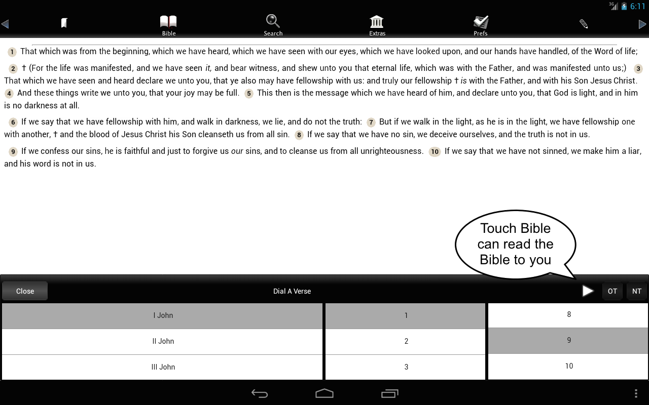 Touch Bible (KJV Only Bible)- screenshot